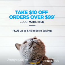 "Save $10 with ""MARCHTEN"""
